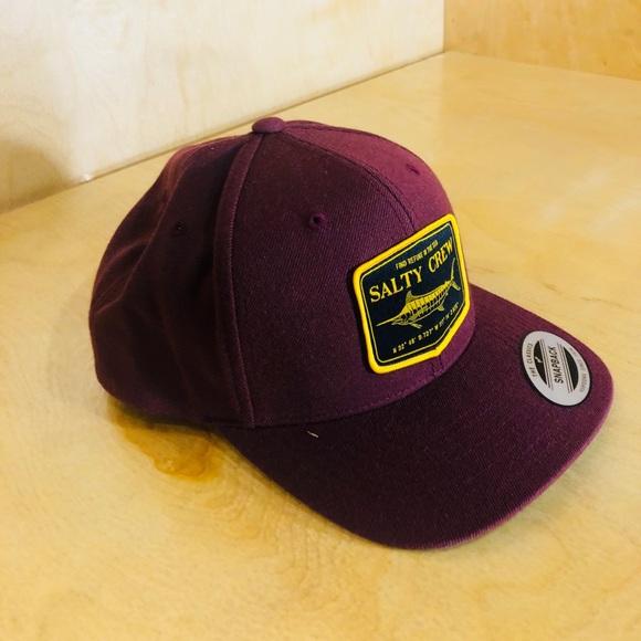 ffe0bb01713eb Salty Crew Burgundy Stealth 6 Panel SnapBack Hat